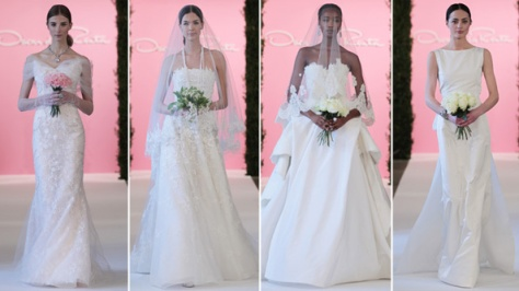 Oscar de la Renta's Dreamy Spring Bridal Collection Photo Source: Instyle.com